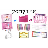 ULTIMATE POTTY TRAINNG SYSTEM- PINK DOTS/GIRL