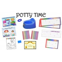 ULTIMATE POTTY TRAINING SYSTEM-LONG RAINBOW/BOY